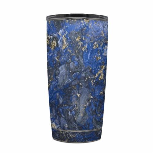 DecalGirl Y20-GOCEANMARB Yeti Rambler 20 oz Tumbler Skin - Gilded Ocean Marble Perspective: front