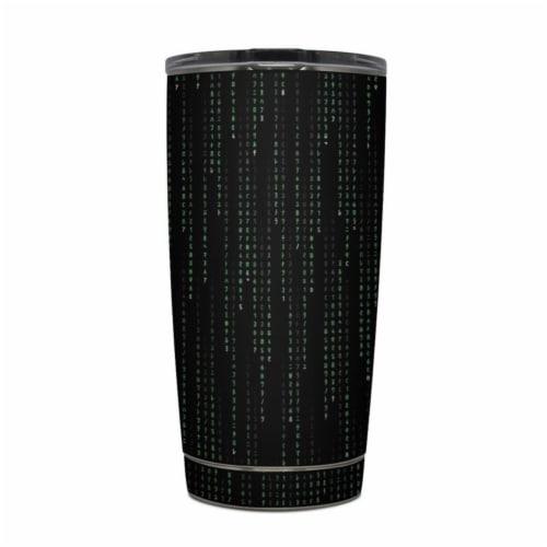 DecalGirl Y20-MATRIX Yeti Rambler 20 oz Tumbler Skin - Matrix Style Code Perspective: front