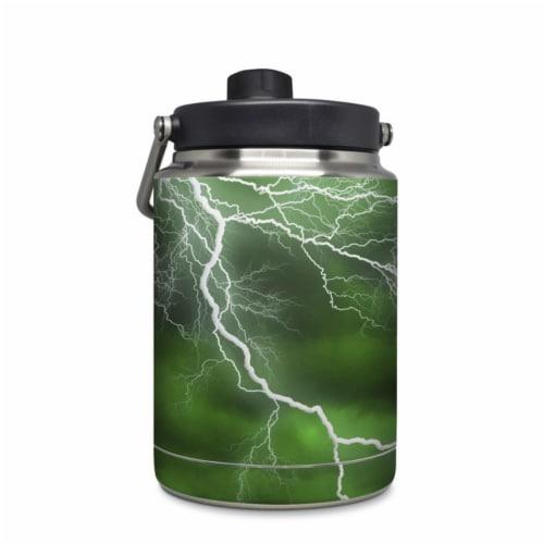 DecalGirl Yeti Rambler 0.5 gal Jug Skin - Apocalypse Green Perspective: front