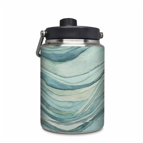 DecalGirl YHG-WAVES Yeti Rambler 0.5 gal Jug Skin - Waves Perspective: front