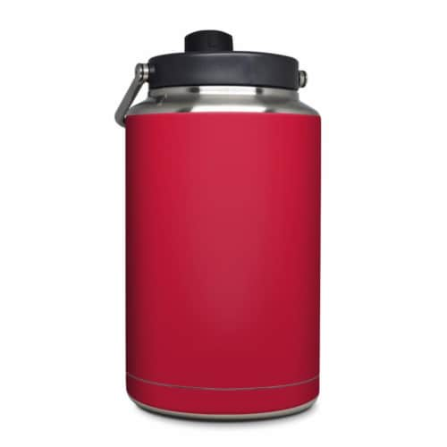 DecalGirl YOG-SS-RED Yeti Rambler 1 gal Jug Skin - Solid State Red Perspective: front