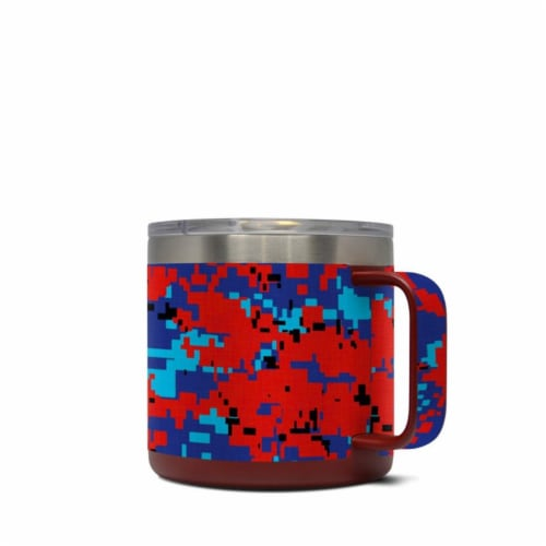 DecalGirl Y14-DIGIPCAMO Yeti 14 oz Mug Skin - Digital Patriot Camo Perspective: front