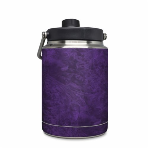 DecalGirl YHG-LACQUER-PUR Yeti Rambler 0.5 gal Jug Skin - Purple Lacquer Perspective: front