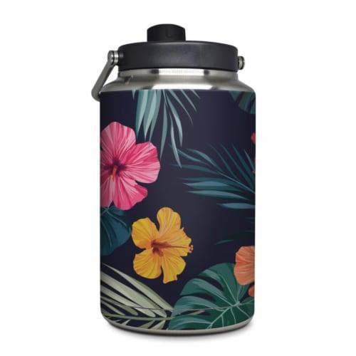 DecalGirl YOG-TROPHIB Yeti Rambler 1 gal Jug Skin - Tropical Hibiscus Perspective: front