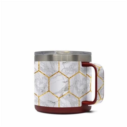 DecalGirl Y14-HONEYMRB Yeti 14 oz Mug Skin - Honey Marble Perspective: front