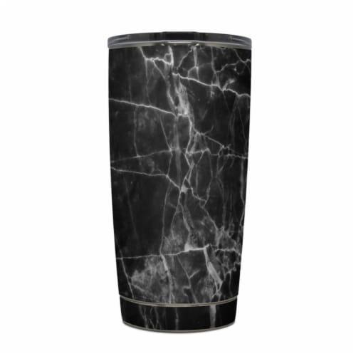 DecalGirl Y20-BLACK-MARBLE Yeti Rambler 20 oz Tumbler Skin - Black Marble Perspective: front