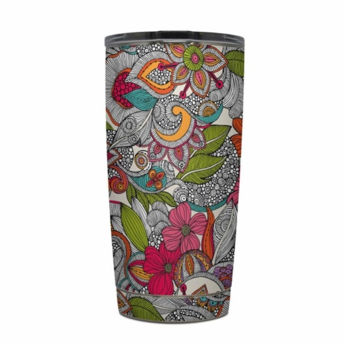 DecalGirl Y20-DOODLESCLR Yeti Rambler 20 oz Tumbler Skin - Doodles Color Perspective: front