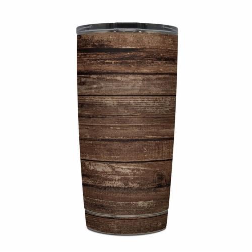 DecalGirl Y20-STRIWOOD Yeti Rambler 20 oz Tumbler Skin - Stripped Wood Perspective: front