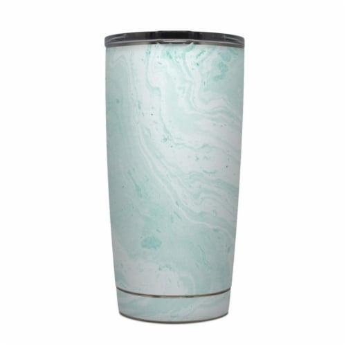 DecalGirl Y20-WINTERGREEN Yeti Rambler 20 oz Tumbler Skin - Winter Green Marble Perspective: front