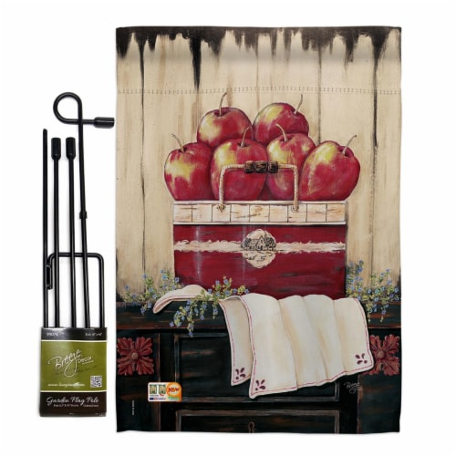 Breeze Decor BD-FT-GS-117046-IP-BO-D-US18-SB 13 x 18.5 in. Ruby Red Country Apple Food Fruits Perspective: front