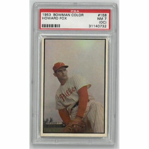Athlon Sports CTBL-023293 Howard Fox Philadelphia Phillies 1953 Bowman Color Baseball Trading Perspective: front