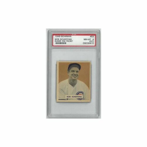 Athlon Sports CTBL-023381 Bob Scheffing Chicago Cubs 1949 Bowman Baseball Trading Card No. 83 Perspective: front