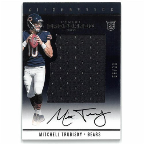 Athlon Sports CTBL-023397 Mitchell Trubisky Signed Chicago Bears 2017 Panini Preferred Game U Perspective: front