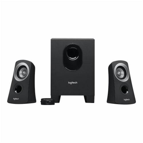Logitech Z313 Speaker System - Black Perspective: front
