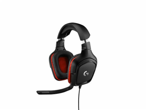 Logitech G332 Gaming Headset - Black/Red Perspective: front