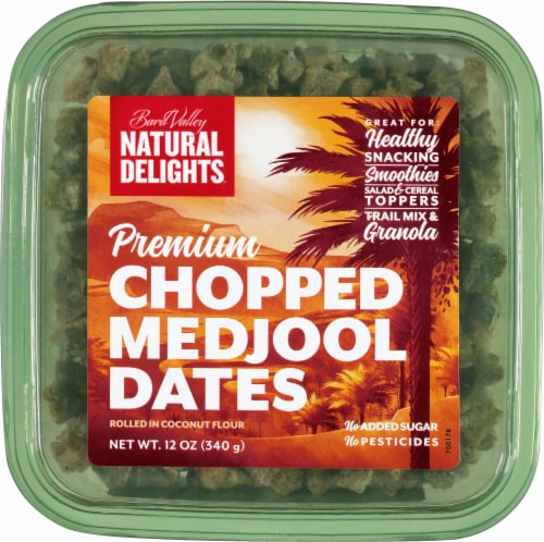 Bard Valley Natural Delights Premium Chopped Medjool Dates Perspective: front