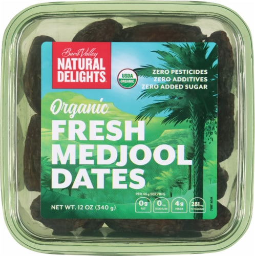 Bard Valley Natural Delights Organic Fresh Medjool Dates Perspective: front