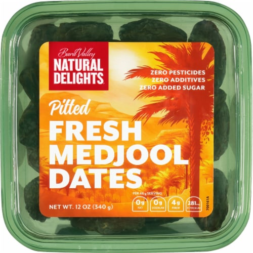 Bard Valley Natural Delights Pitted Fresh Medjool Dates Perspective: front