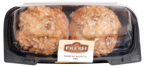 Bakery Fresh Goodness Banana Nut Muffins Perspective: front