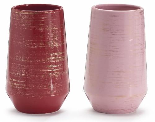 burton + BURTON Assorted Gold Wash Ceramic Vase Perspective: front
