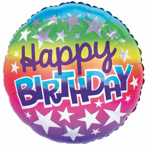 burton + BURTON Happy Birthday Rainbow Balloon Perspective: front