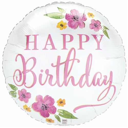 burton + BURTON Happy Birthday Blooms Balloon Perspective: front