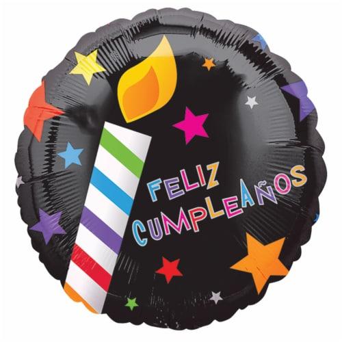 burton + BURTON Happy Birthday Spanish Balloon Perspective: front