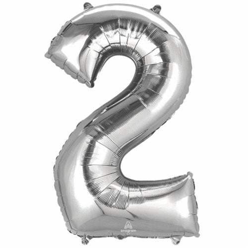 burton + BURTON Number 2 Shape Balloon Perspective: front