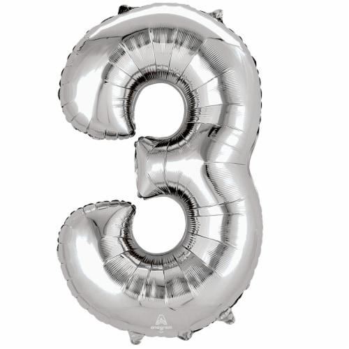 burton + BURTON Number 3 Shape Balloon Perspective: front