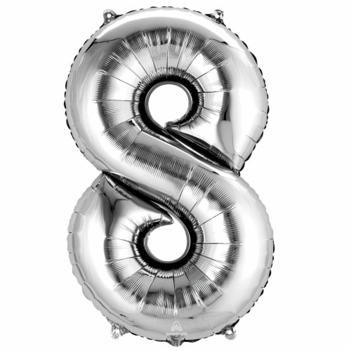 burton + BURTON Number 8 Shape Balloon Perspective: front
