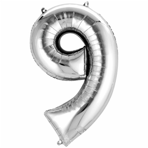 burton + BURTON Number 9 Shape Balloon Perspective: front