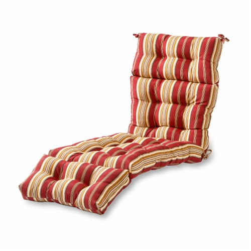Roma Stripe Stripe 72 x 22 in. Outdoor Chaise Lounge Cushion Perspective: front