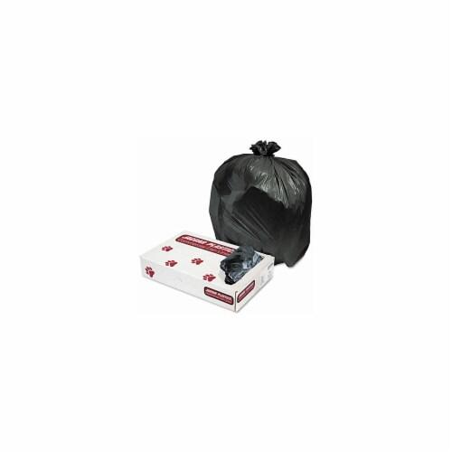 Jaguar Plastics L3339H Industrial Strength Commercial Can Liners- 33gal- .62mil- Black- 200/C Perspective: front