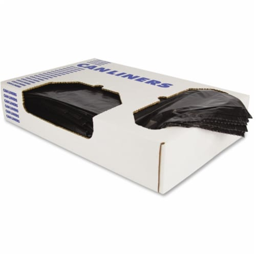 Heritage Bag Company Can Liner,24x32,Blk,0.35 mil,LLDPE,PK500  H4832RK Perspective: front