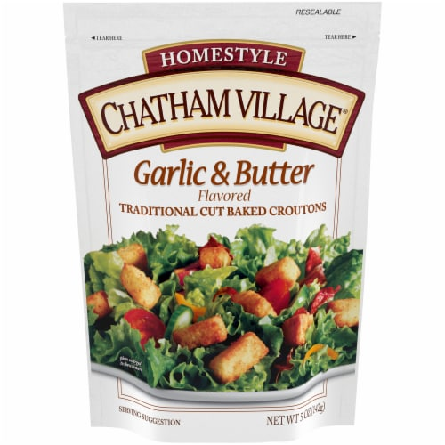 Chatham Village Garlic & Butter Croutons Perspective: front