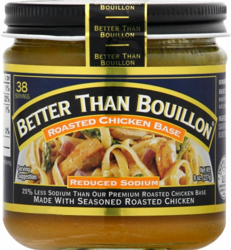 Better Than Bouillon Reduced Sodium Roasted Chicken Base Perspective: front