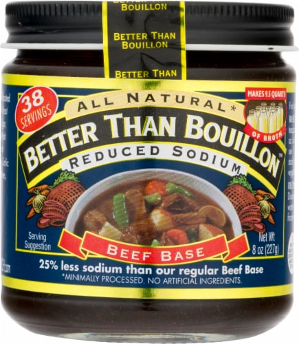 Better Than Bouillon Reduced Sodium Beef Base Perspective: front