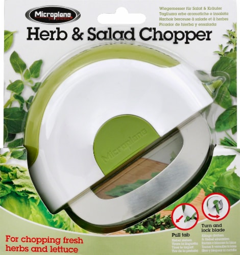 Microplane Herb and Salad Chopper - Green/White Perspective: front