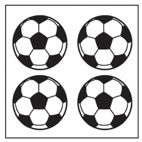 Creative Shapes Etc SE-2627 2 x 8 in. Large Incentive Stickers, Soccer - Pack of 1728 Perspective: front