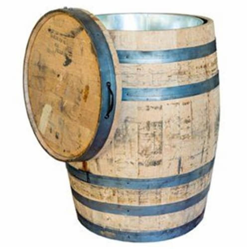 Real Wood Products 242480 Authentic Whole Oak Whiskey Barrel Perspective: front
