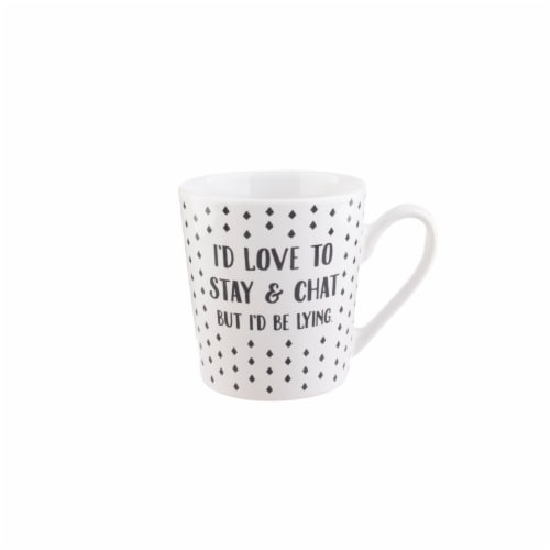 PMI Worldwide I'd Love to Stay and Chat Flare Mug Perspective: front