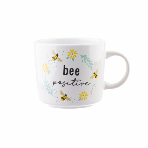 PMI Worldwide Bee Positive Coffee Mug - White Perspective: front