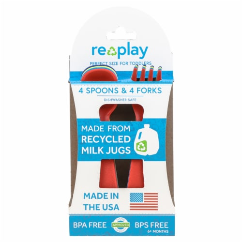 Re-Play BPA Free Toddler Utensils Perspective: front
