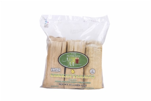 The Authentic New Mexican Chicken Tamales 6 Count Perspective: front