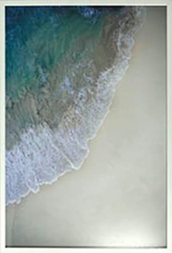 Crystal Art Gallery Aerial Ocean Framed Wall Decor Perspective: front