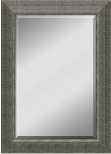 Crystal Art Gallery Scratched Silver Mirror Perspective: front