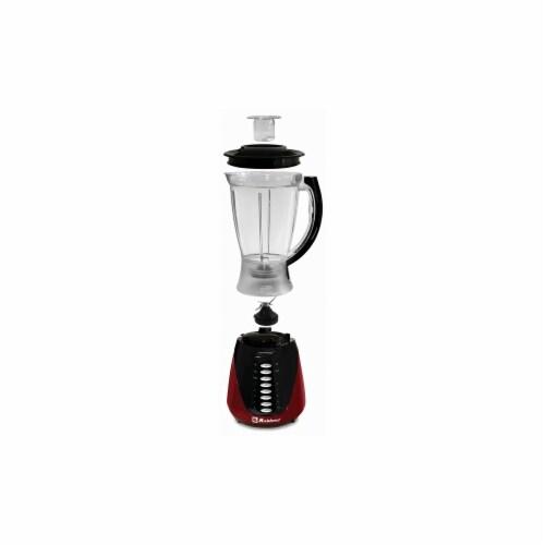 Koblenz LKM-4510 PR 1.5 ltr 400W 10 Speed & Pulse Plastic Jar Blender, Red Perspective: front