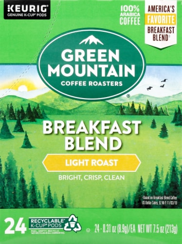 Green Mountain Coffee Breakfast Blend K-Cup Pods Perspective: front