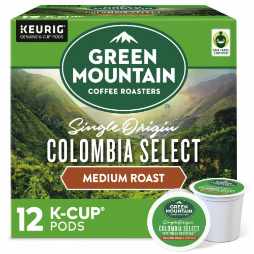 Green Mountain Coffee Colombia Select Medium Roast K-Cup Pods Perspective: front
