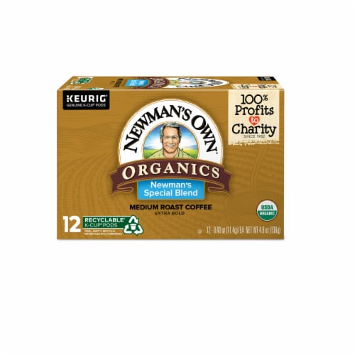 Newman's Own Organics Medium Roast Special Blend Coffee K-Cup Pods Perspective: front